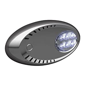 Attwood LED Docking Light Stainless Steel Bezel, Pair (White LED)