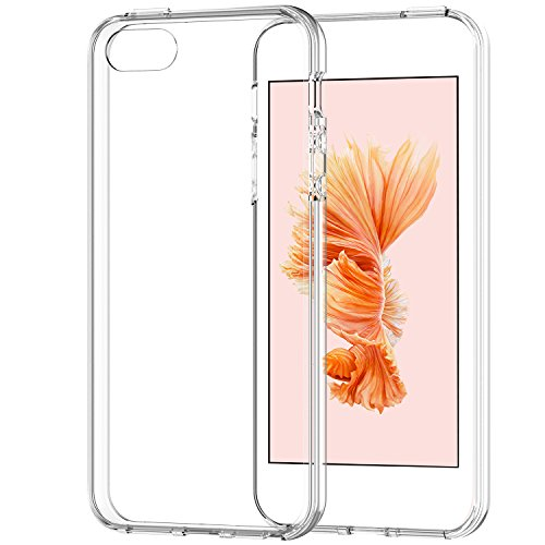 iPhone 5s Case, JETech Apple iPhone SE 5S 5 Case Bumper Cover Shock-Absorption Bumper and Anti-Scratch Clear Back (Crystal Clear) - 0426 (Iphone 5 Bumper With Clear Back compare prices)