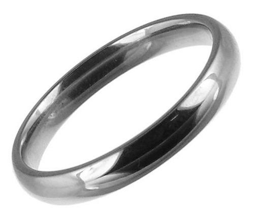 18ct White Gold Gents 3mm Light Court Wedding Ring