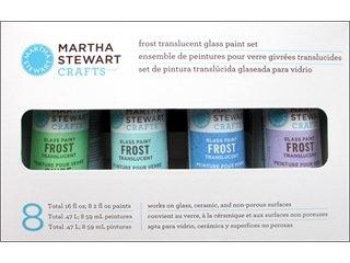 Martha Stewart Paint Set, 2-Ounce, Frost Glass Paints front-607640