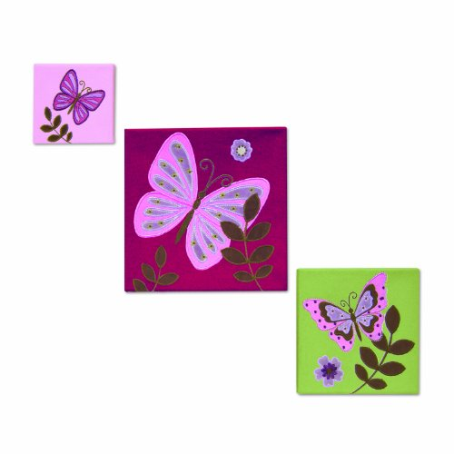 NoJo Emily 3 Piece Canvas Wall Art