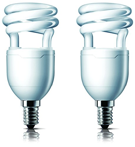 Tornado E14 8 Watt CFL Bulb (Cool Day Light,Pack of 2)