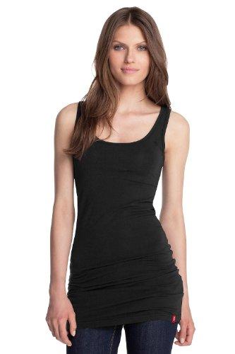 Esprit N42709 Plain Women's T-Shirt Black X-Large