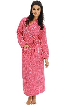 Del Rossa Women's 100% Cotton Lightweight Bathrobe Robe at Amazon
