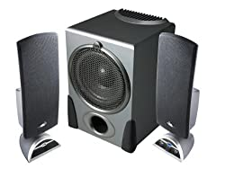 Cyber Acoustics CA-3550WB Silver 2.1 Speaker System