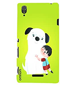 Omnam boy love with dog back cover for Xperia T3