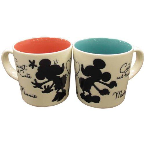 キュート ペアマグセット (マグカップ) ハート ミッキー&ミニー (ミッキーマウス/ミニーマウス) ディズニー