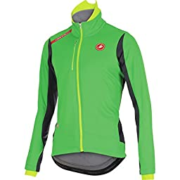 Castelli Senza Jacket Kelly Green/Anthracite/Yellow Fluo, L - Men\'s