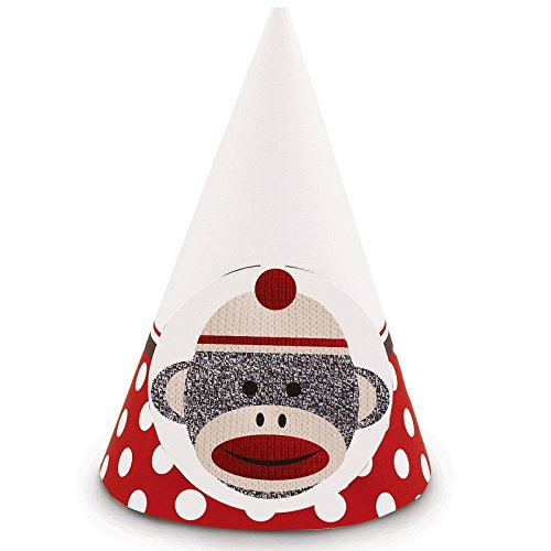 Sock Monkey Red Cone Hats (8)
