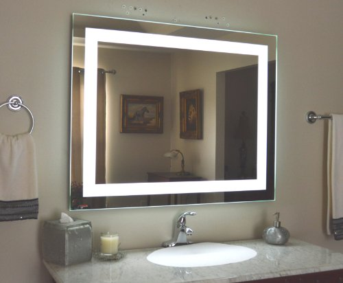 Wall Mounted Lighted Vanity Mirror LED MAM84032 Commercial Grade 40u0026quot;w ...