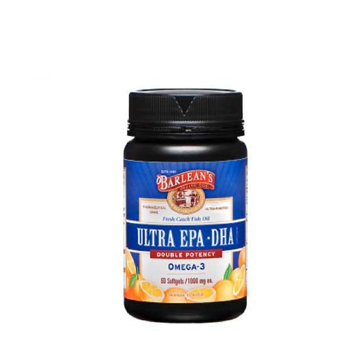 Barlean'S Organic Oils - Ultra Epa Triple Potency, 1000 Mg, 60 Softgels