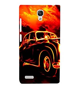 EPICCASE Glowing Car Mobile Back Case Cover For Xiaomi Redmi Note (Designer Case)