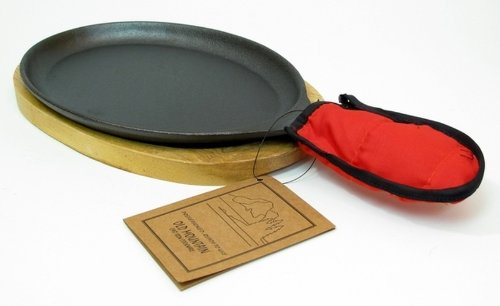 Old Mountain Cast Iron Pre-seasoned Fajita Set Cookwares Kitchenwares