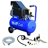 Wolf Cub 24 Litre, 1.5HP, 6.35CFM, 230v, MWP 116psi Air Compressor + 11 Piece Air Tool Kit 5 Meter PVC Hose