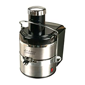 Jack Lalanne's JLSS Power Juicer Deluxe Electric Juicer, Stainless/Black