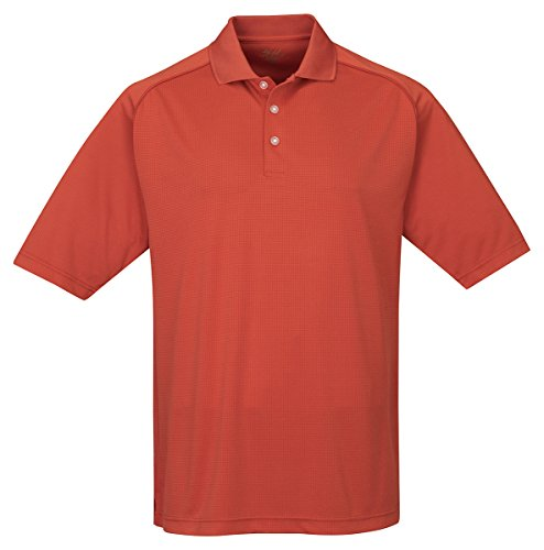 Tri-Mountain Men'S Moisture Wicking Antimicrobial Polo Shirt, Rust, X-Large front-392684
