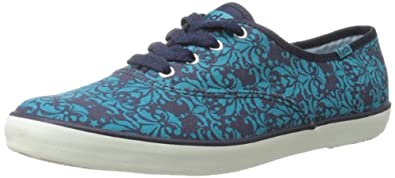 Keds Women's Champion Damask Oxford,Blue,7 M US