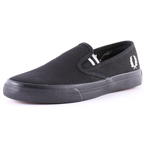 Fred Perry Turner Slip On Heavy Canvas Black 41
