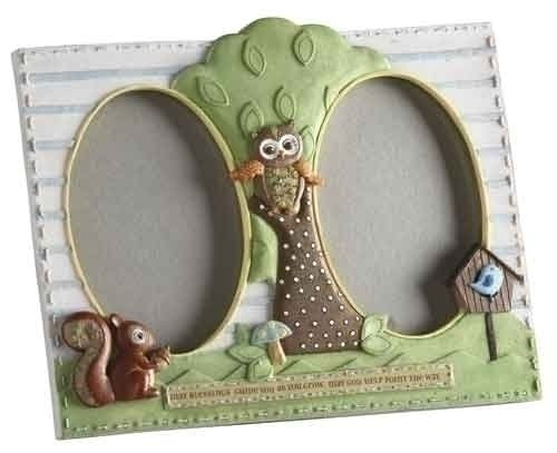 Learning To Fly Owl Frame 3.5 x 5 Two Pane Catholic Baptism Child by Roman Inc.