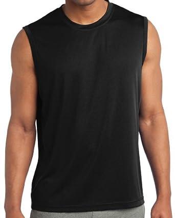 Yoga clothing for you mens sleeveless moisture for Mens moisture wicking sleeveless shirts