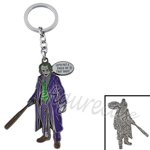 Batman The Dark Knight Returns The Joker Metal Figure Pendant Key Ring Chain