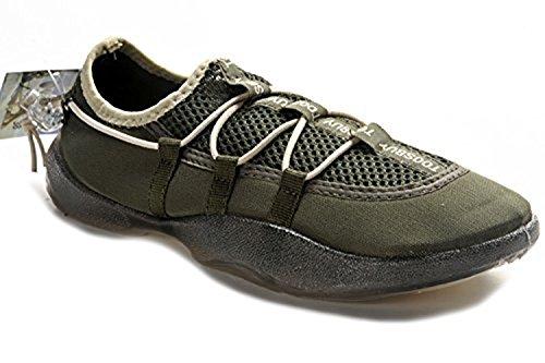 Tosbuy Man's Slip on Water Shoes,beach Aqua, Outdoor, Running, Athletic, Rainy, Skiing, Climbing, Dancing, Car Shoes for Men & Women 40 EU (8 M US Men/9 M US Women), Dark Green)