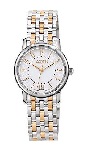 Dugena Premium - Reloj analógico de cuarzo para mujer con correa de acero inoxidable, color multicolor