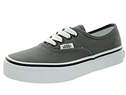 Vans Kids Authentic Pewter/Blk Skate Shoe 12.5 Kids US