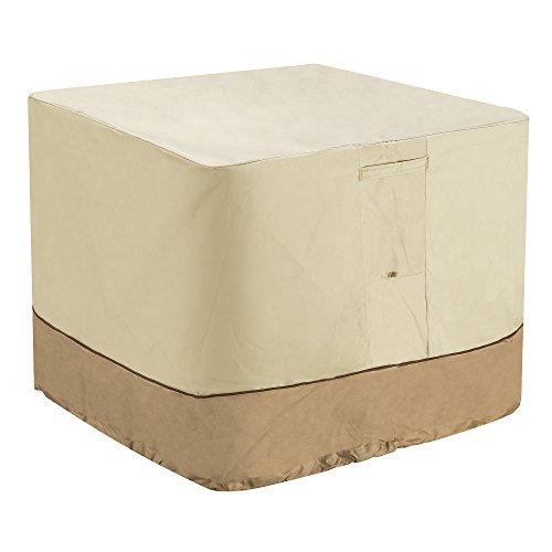 "Villacera Air Conditioner Cover Square, Beige & Brown 34"" x 34"""