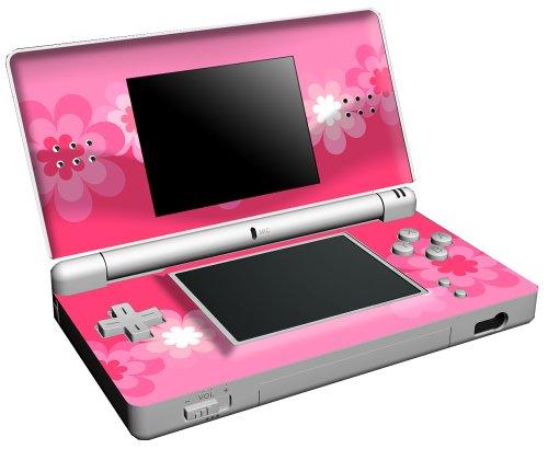 Wrapstar: Retro Pink Flowers Skin (Nintendo DS Lite)
