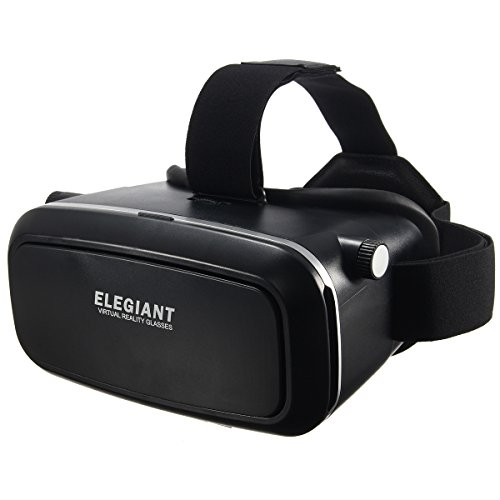 VR Headset, ELEGIANT 2016 3D Virtual Reality Glasses Compatiblefor 4~6 inch Smartphones iPhone 6 6 Plus, Samsung Galaxy S6 edge, Note 4 3, etc.