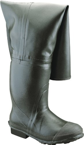 Honeywell Safety A2300-13 Ranger Bullhead Insulated All-Rubber Full Hip Boot for Men, Size-13, Forest Green