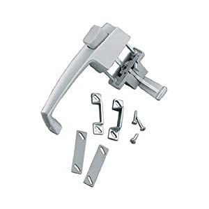 Hampton Products-Wright Hampton Products-Wright V398 Screen & Storm Door Latch, Out-Swinging, Push-Button, Aluminum