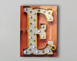 Light Up Letter E, Marquee LED Letter E, Vegas Letter Art, 10x15
