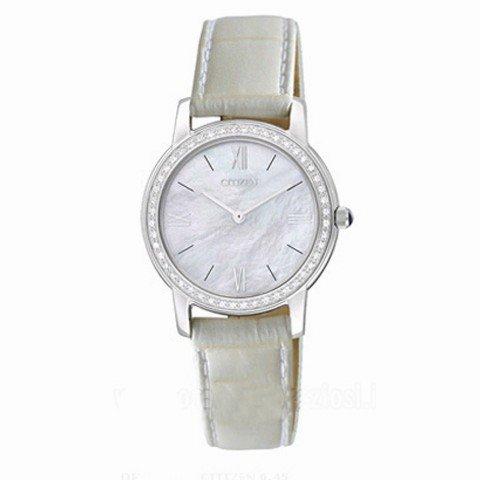 Reloj Citizen 0.45 Diamonds Eg3200-04da Mujer Nácar
