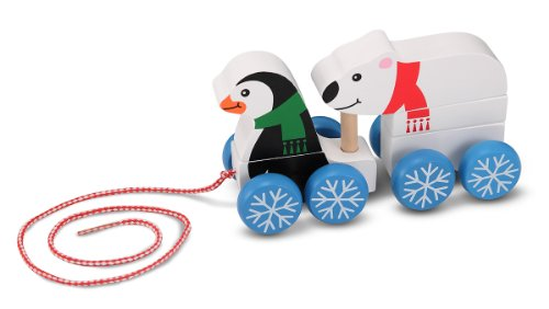 Melissa & Doug Penguin And Polar Bear Pull-Along - 1