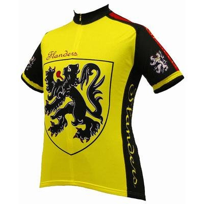 Image of World Jersey's Men's Lion of Flanders Short Sleeve Cycling Jersey (B001G4YJOW)