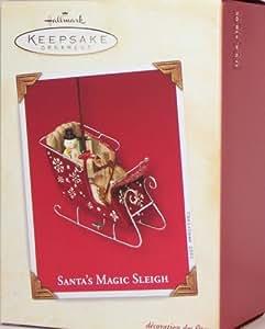 SANTA'S MAGIC SLEIGH 2003 Hallmark Ornament QRP4247