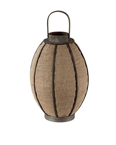 Privilege Large Candle Lantern, Brown