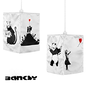 Modern Banksy Urban Graffiti Art Ceiling Pendant Light Shade