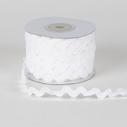 Lowest Prices! White Ric Rac Trim 10mm - 25 Yards
