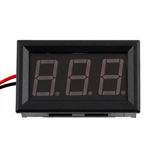 1Pcs Mini Digital Voltmeter 4.5-30V Red Led Vehicles Motor Voltage Panel Meter