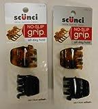 Scunci No-Slip Grip Jaw Clips 3.5 cm,