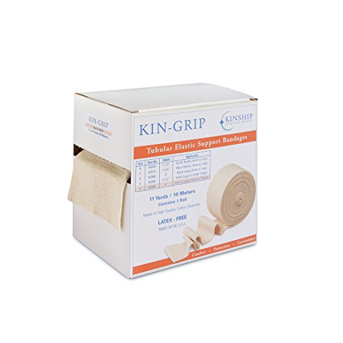 Kin-Grip Tubular Elastic Bandage, Size D (similar to Tubigrip) 15-24.5cm/5.9-9.6in (Free Kin D compare prices)