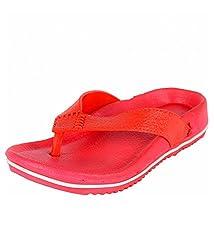 Ys Global Boys Red Rubber Flip Flops 6UK