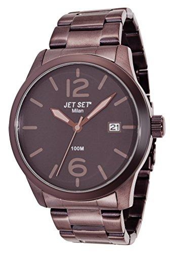 Jet Set J6280BR-762 - Reloj de pulsera hombre, acero inoxidable, color marrón