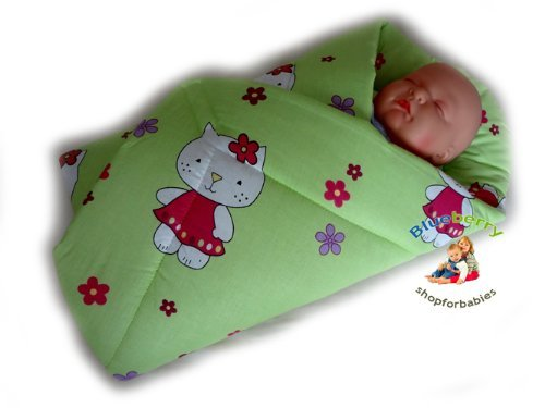 Blueberry Shop Newborn Baby Swaddle Wrap Blanket Duvet Sleeping Bag Snuggle Wrap Green - 1