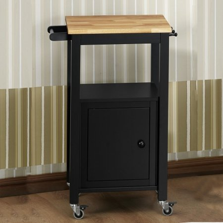 Extra Large Kitchen Cart With Wood Top Natural