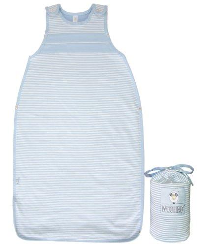 Imagen de Woolino Ultimate Baby Sleep Sack, 100% Natural Merino, One Size 3-24 meses, All Season saco de dormir, Cielo azul
