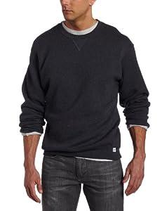 Russell Athletic Men's Dri Power Fleece Crewneck Sweatshirt, Black Heather, Large